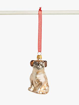 John Lewis & Partners Pop Art Pug Bauble