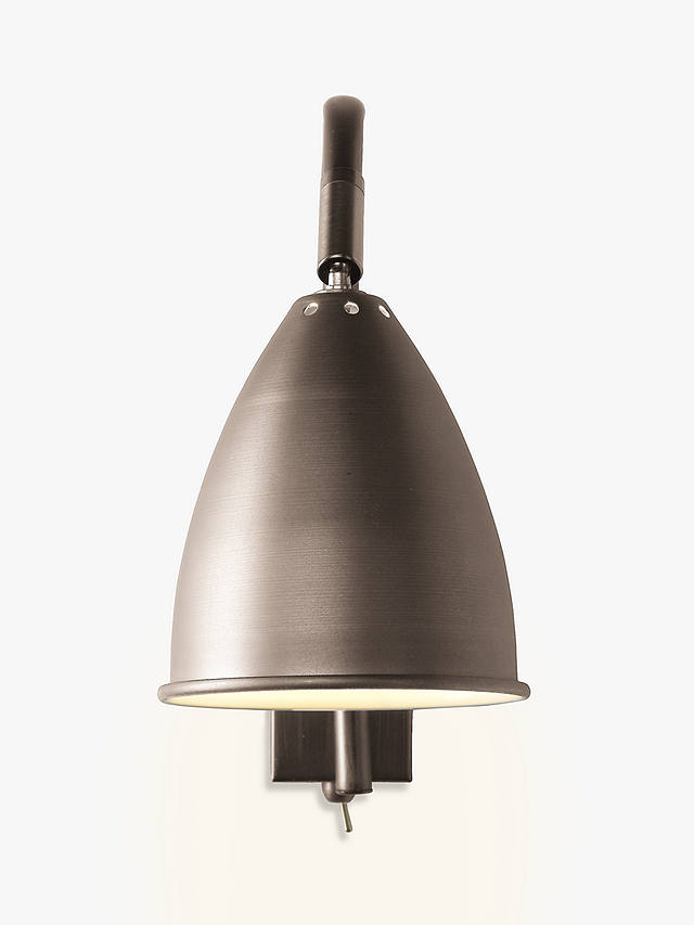 Buy John Lewis & Partners Chelsea Adjustable Wall Light, Satin Pewter Online at johnlewis.com