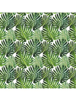 Oddies Textiles Cheese Plant Leaves Cotton Fabric, Green/Multi