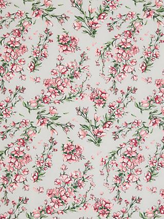 Oddies Textiles Floral Stems Fabric, Pink/Grey