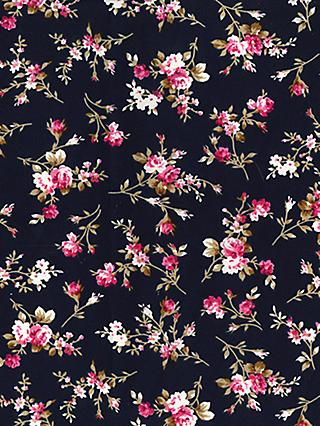 Oddies Textiles Palm Leaves Print Fabric, Green/White