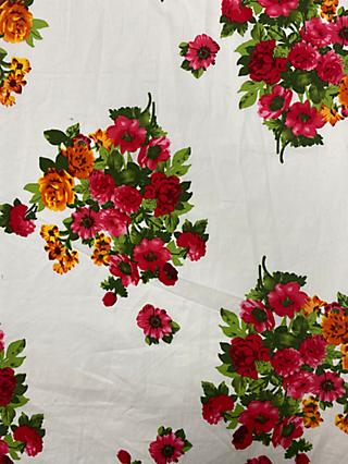 Marvic Fabrics Blooms Print Fabric, Red/Orange