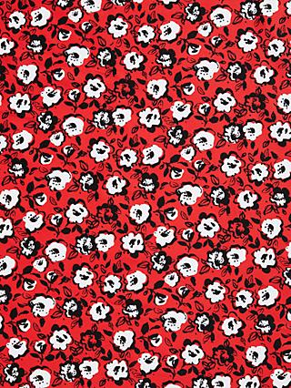 Marvic Fabrics Abstract Flower Lines Print Fabric, Red