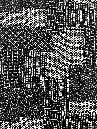 Marvic Fabrics Mixed Tile Print Fabric, Black/White