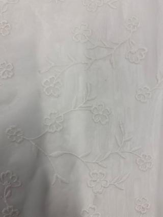 Marvic Fabrics Embroidered Flowers Fabric, Ivory