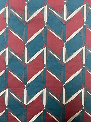 Marvic Fabrics Geometric Stripe Print Fabric, Wine