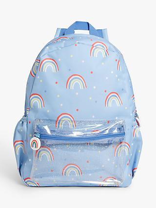 John Lewis & Partners Children's Rainbow Glitz Backpack, Multi