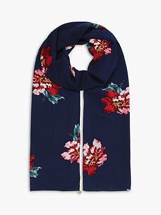 Joules Conway Floral Print Scarf, Navy/Multi