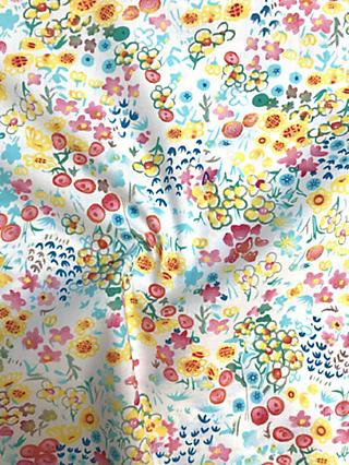 Viscount Textiles Sketchy Flower Print Fabric, Yellow/Multi