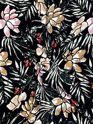 Viscount Textiles Floral Leaf Print Fabric, Nearly Black