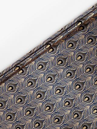 John Lewis & Partners Art Nouveau Peacock Feather Wrapping Paper, 2x 3m, Navy