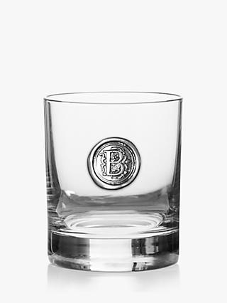 English Pewter Company Personalised Monogram Tumbler, 325ml