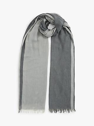 Unmade Rosemary Striped Scarf, Grey