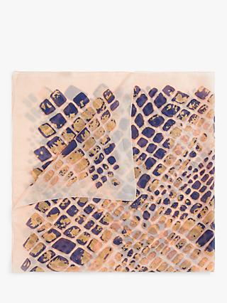 Unmade Dadiva Silk Abstract Print Scarf, Primrose Pink