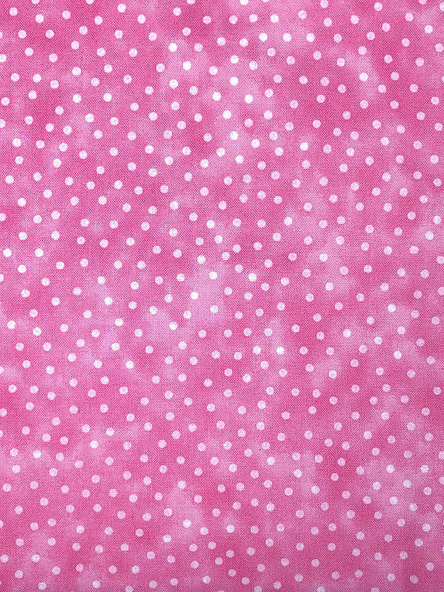 Buy Visage Textiles Blender Spot Print Craft Fabric, 2m, Pink Online at johnlewis.com