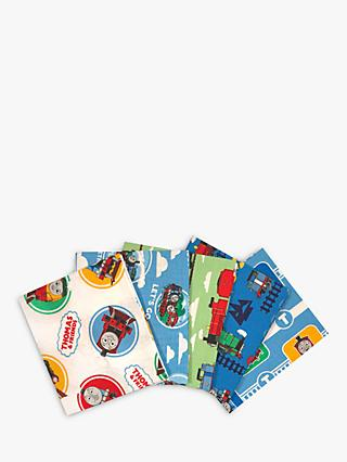 Visage Textiles Thomas and Friends Print Fat Quarter Fabrics, Pack of 5, Multi
