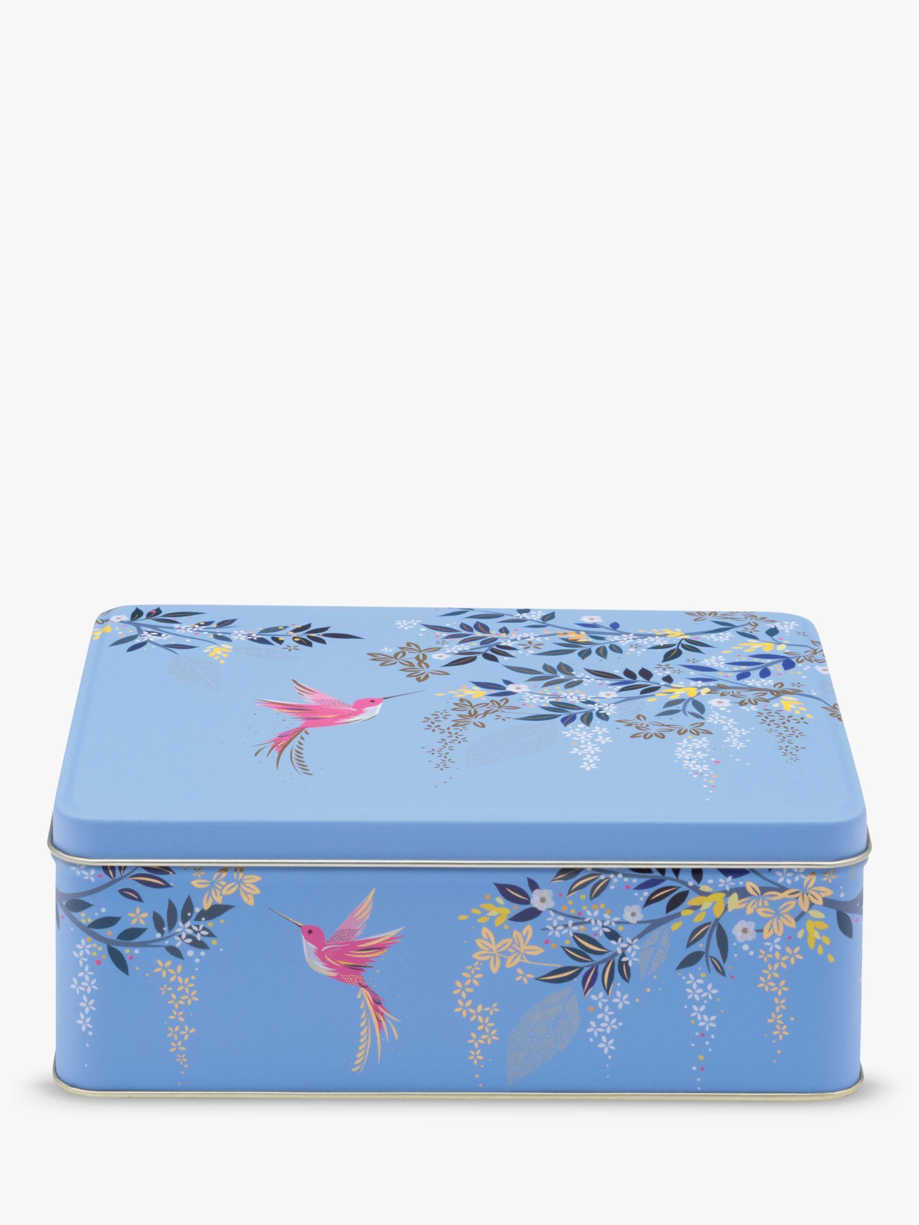 Sara Miller Chelsea Collection Birds Deep Rectangular Cake Tin, 2.3L, Blue