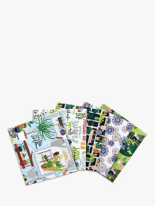 Visage Textiles Green Vibes Only Fat Quarter Fabrics, Pack of 5, Green