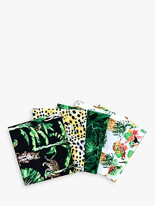 Visage Textiles Gone Wild Fat Quarter Fabrics, Pack of 5, Multi