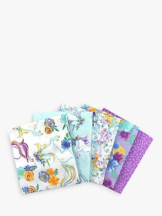 Visage Textiles Unicorn Spring Fat Quarter Fabrics, Pack of 5, Multi
