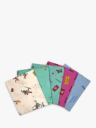 Visage Textiles Charlie and the Chocolate Factory Print Fat Quarter Fabrics, Pack of 4, Multi