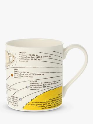 McLaggan Smith Planets Educational Mug, 350ml, White/Multi