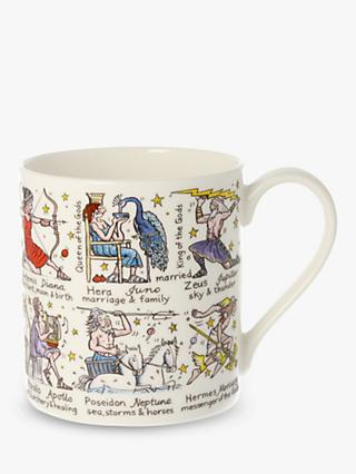 McLaggan Smith Greek Gods Educational Mug, 350ml, White/Multi