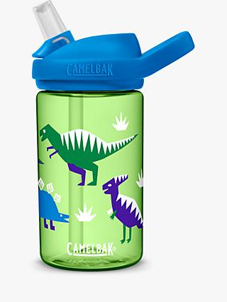 CamelBak Eddy Kids Children's Dinosaur Drinks Bottle, 400ml, Green/Multi