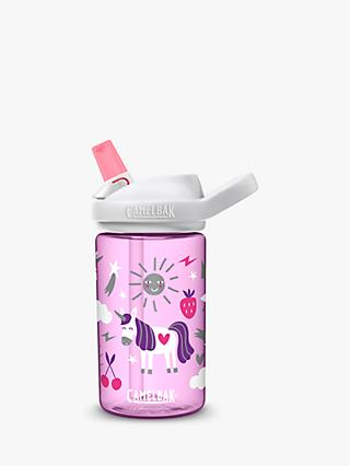CamelBak Eddy Kids Children's Unicorn Drinks Bottle, 400ml, Pink/Multi