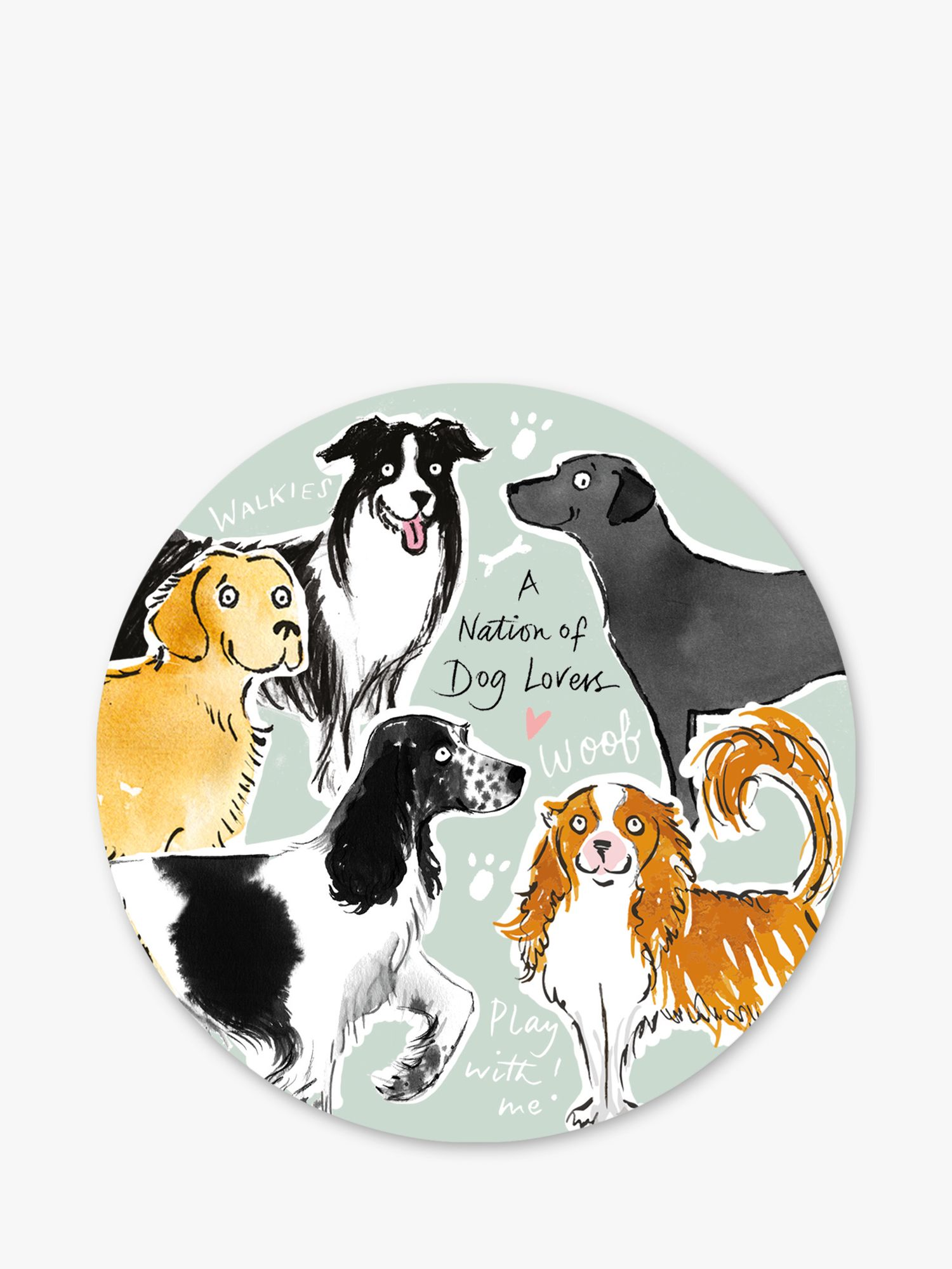 A Nation of Dog Lovers Dog Coaster
