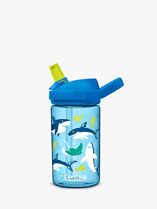 CamelBak Eddy Kids Children's Shark Drinks Bottle, 400ml, Blue