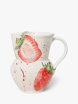BlissHome Large Strawberry Jug, 6L, Red