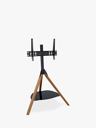 AVF Hoxton Tripod TV Stand with Mount for TVs from 32 to 65, Light Wood
