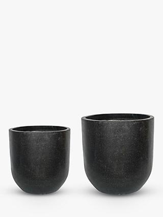 Ivyline Catania Outdoor Terrazzo Cement Vases, Set of 2