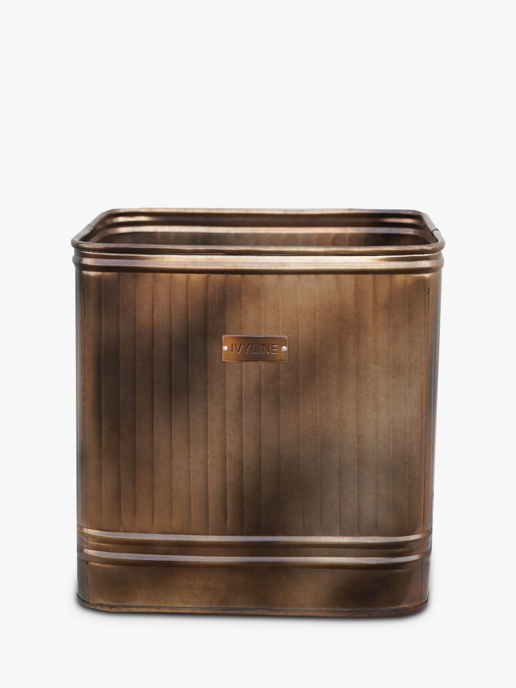 Ivyline Hampton Galvanised Metal Outdoor Planter, 34cm