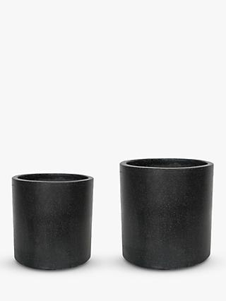 Ivyline Catania Outdoor Terrazzo Cement Planters, Set of 2