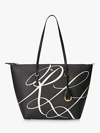 Lauren Ralph Lauren Keaton 26 Tote Bag, Black/White