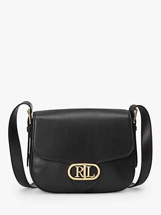Lauren Ralph Lauren Addie Leather Cross Body Bag, Black