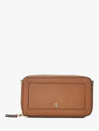 Lauren Ralph Lauren Danna Crosshatch Leather Cross Body Bag