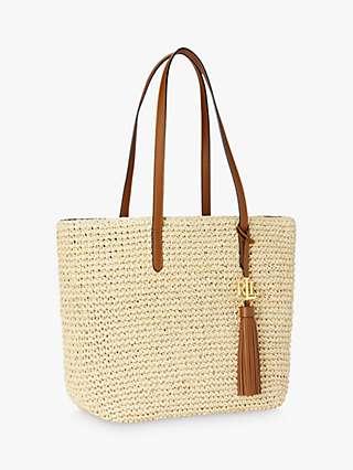 Lauren Ralph Lauren Straw Tote Bag, Natural
