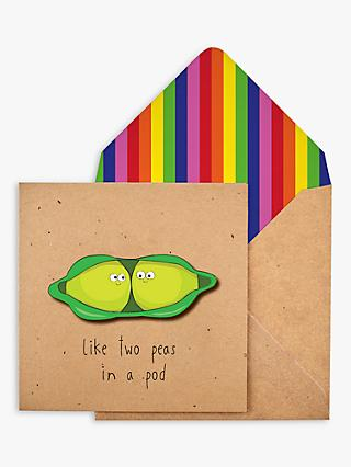 Tache Crafts Peas in a Pod Valentine's Day Card