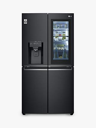LG GMX945MC9F American-Style Freestanding 60/40 Fridge Freezer, 92cm Wide, Matte Black