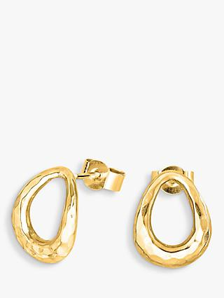 Dower & Hall Yellow Gold Vermeil Large Entwined Oval Stud Earrings, Gold
