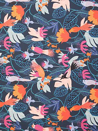 Dashwood Studio Bright Birds Print Fabric, Navy