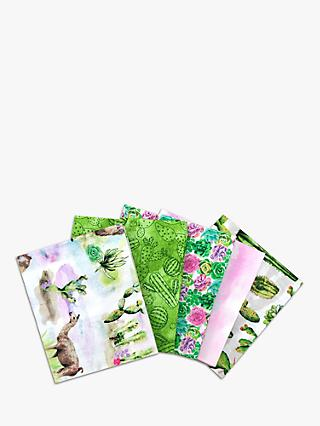Visage Textiles Along the Andes Fat Quarter Fabrics, Pack of 5, Green
