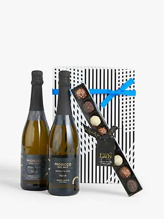 John Lewis & Partners Prosecco Duo and Chocolates Gift Box