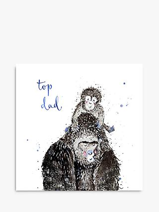 Louise Mulgrew Designs Gorillas Top Dad Father's Day Card