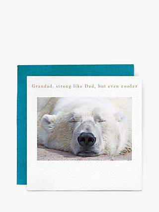 Susan O'Hanlon Polar Bear Grandad Father's Day Card