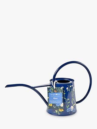 Burgon & Ball RHS British Meadow Print Indoor Watering Can, 1L, Navy