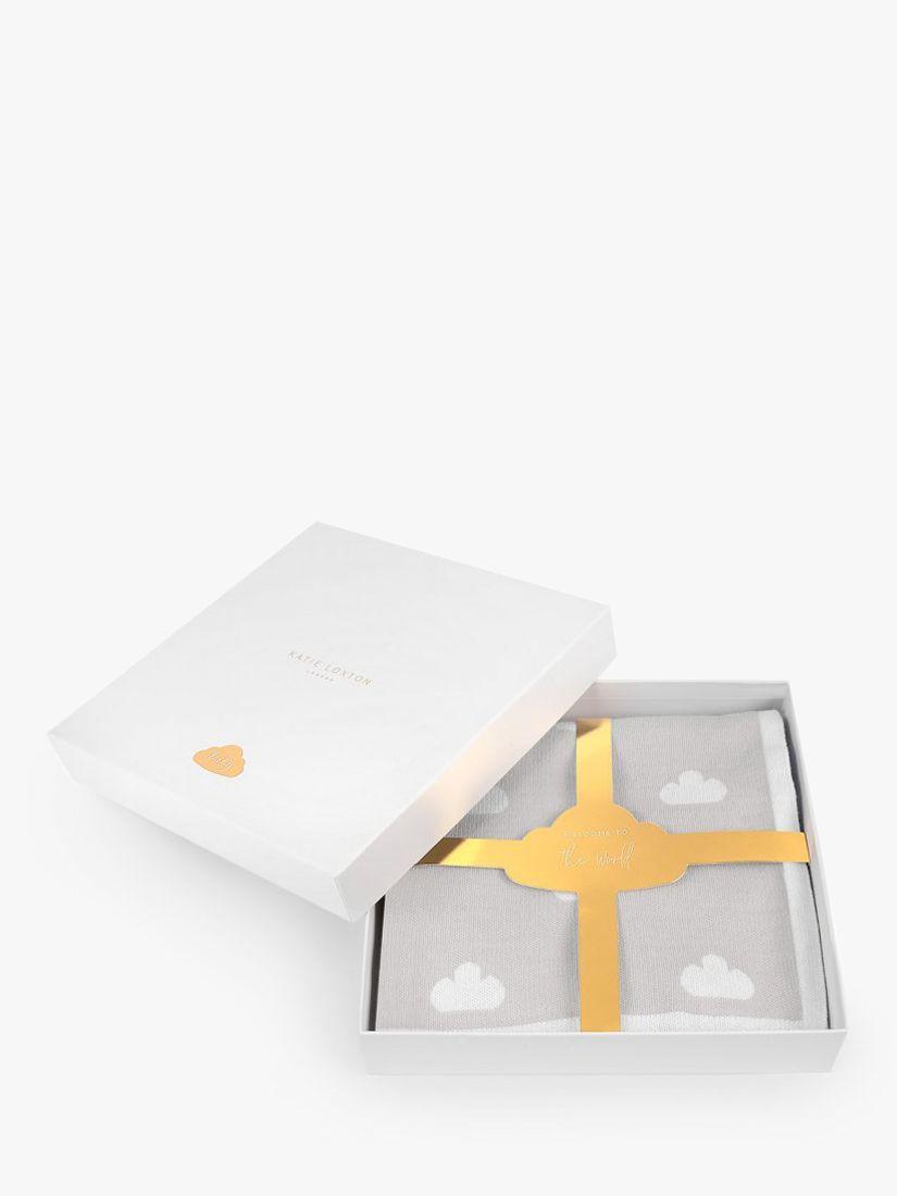 Katie Loxton Cloud Cotton Baby Blanket Gift, Grey